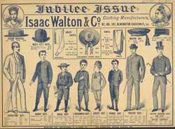 Advert For Isaac Walton & Co, Clothing Manufacturers